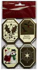 Gift Maker 20pc Gift Tags Self-Adhesive Holly+Santa+Snowman Holiday/Christmas