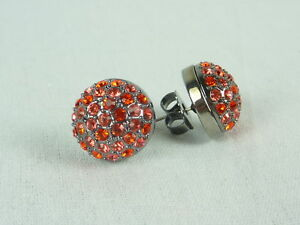 MIMCO Jewellery Crystal Dome Stud Earrings Maple Mix