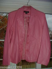 Dialogue Pink Leather Jacket ladies size small lined