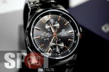 Casio Edifice Multi Function Black IP Stainless Steel Men's Watch EF-339BK-1A9