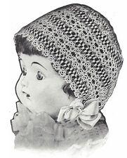 Vintage Tatting Crochet PATTERN to make Antique Baby Bonnet Hat Cap 1921TattedCa