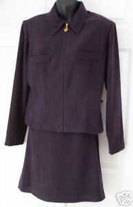 NWT SCARLETT Wms 2pc Eggplant Skirt Suit Outfit 11 / 12