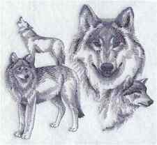 Wolves Beauty Set Of 2 Bath Hand Towels Embroidered by laura