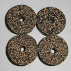 """4 BLACK DARK SPOTTED RUBBERIZED RUBBER CORK RINGS 1 1/4"""" D x 1/2"""" H x 1/4"""" I.D."""