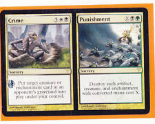 MTG 4 x Dissension Rare   CRIME // PUNISHMENT  Sorcery  PLAY SET  Never played