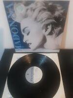 """Madonna – True Blue Vinyl 12"""" LP + Inner Sire 1986"""