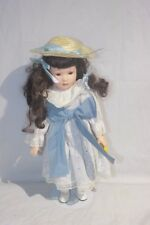 "Collectors Choice Abby Porcelain Doll White & Blue 16"" (Dnt H-2) #9"