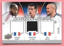 2012 Upper Deck MLS Thierry Henry Sebastien Le Toux Eric Hassli 3x Jersey #14/65