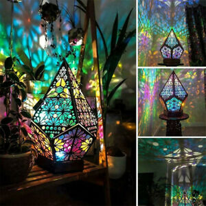 NEW Bohemian IP42 Colorful Table Bedside Starry Sky Floor Projection LED Lamp