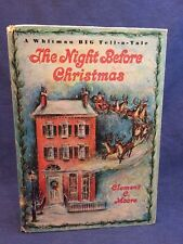 Whitman Big Tell A Tale The Night Before Christmas 2447 Clement Moore 1965