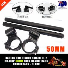 2xLift 50mm Handle bar Clip on Yamaha YZFR1 YZFR6 YZF R6 R1 1998 1999 2000-2010