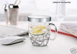 Glass Tea Cup With Infuser Tea Maker Designer Tea Cup Office Cup 500ml