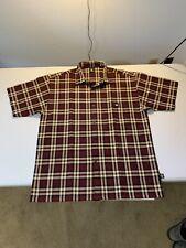 Men's Lowrider Short Sleeve Button Front Shirt Size L Plaid