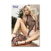 A • 355 # Locker Fridge Magnet Sexy Cute Beer Girl Swim Suit Decor Mini Poster