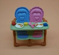 Fisher Price Loving Family Dollhouse Brown Twin Babies Double High Chair Baby