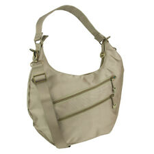 Travelon Hack-Proof Convertible Hobo Purse Bag with RFID Protection Champagne