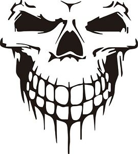PUNISHER No.1  hood side vinyl decal sticker for car  black