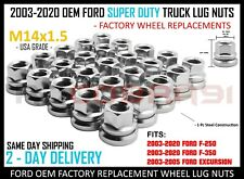 2003-2020 Ford F-250 F-350 Chrome Factory Style Lug Nuts Flat Washer M14x1.5