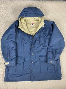 Columbia Sportswear Vintage Hoodie Parka Jacket Coat Mens 3XL Brown Tag Blue Tan