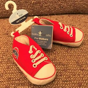 Baby Fanatic OHIO STATE 0-6 mos. Pre-Walkers NCAA Sneakers Shoes Never Worn