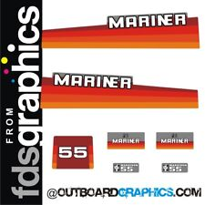 Mariner 55hp rainbow outboard engine decals/sticker kit