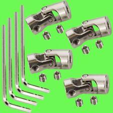 ► (4 Stück) 4mm x 4mm Wellenkupplung flexibel Kardan 4x4 Winkel Kardangelenk