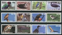 Tonga 2012 Vögel Birds Uccelli Oiseaux Freimarken Definitives 1742-1753 MNH