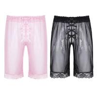 Men See Through Sheer Swim Shorts Swimwear Swimming Underwear Boxer Briefs Pants