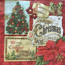 10 Paper Napkins Decoupage Xmas Across the World Collage Luncheon Craft Punch