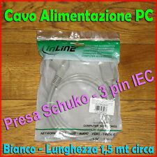 ★ Cavo Elettrico Alimentazione ★ per PC e Mac ★ Presa Schuko IEC ★ NUOVI ★