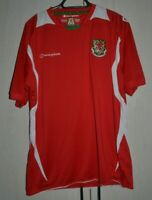 WALES NATIONAL TEAM 2008/2009 HOME FOOTBALL SHIRT JERSEY CHAMPION SIZE XL ADULT