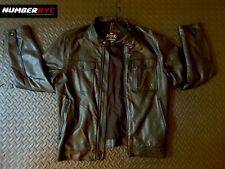 Men's EXPRESS Black faux leather jacket coat NO HOOD Medium