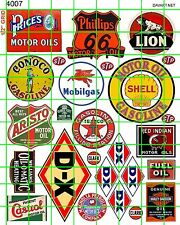 4007 DAVE'S DECALS DX GAS MOTOR OIL GARAGE SHOP AUTO LION SIGNS STP LION INDIAN