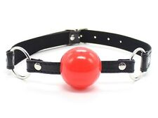 Faux Leather Red Soft Gel Ball Gag, Dungeon Wheel Night Party Role Play Set