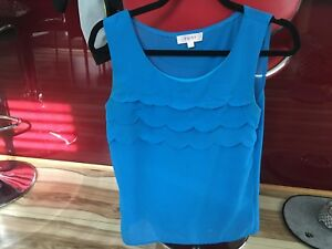 Tempt Ladies Top - Size S - Blue - 5+ items free postage (AU only)