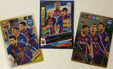 FC BARCELONA TRIO Cards x 3 LIONEL MESSI , SUAREZ , NEYMAR , COUTINHO