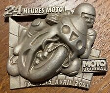 INSIGNE, BADGE - 24 HEURES MOTO  -14 et 15 AVRIL 2001 (928) RECHERCHÉ. MOTARD