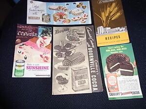 Vintage1950/60's Advert. Brochures Cadbury's -Nescafé -Sunshine -Sanitarium (5)