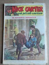 Nick Carter Il Grande poliziotto americano Anni 40 n°39 ed. NERBINI  [G369]