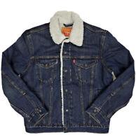 Levis Sherpa Denim Men's Trucker Jacket New Blue Wash Levi's 0115