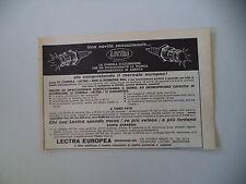 advertising Pubblicità 1964 LECTRA EUROPEA - BRESSANONE