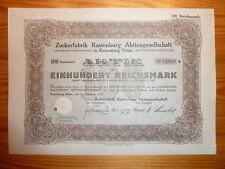 D: Zuckerfabrik Rastenburg, Ostpreussen 1924, 100 RM *