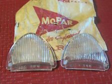 NOS Mopar 1940 Plymouth parking lens set