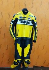 YELLOW YAMAHA RACING MOTORCYCLE/MOTORBIKE LEATHER SUIT- 2PC JACKET TROUSER