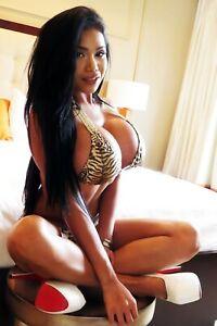 4x6 Photo Fine Art Beautiful Busty Asian Model Artistic Nude 91321c-8