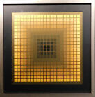Victor-Vasarely MEXICO CITY serigraph framed Hand Signed on paper Make an Offer