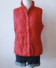"LANDS"" END Quilted Sleeveless Button Down Vest Puffer Feather Coat Jacket XS 2 4"