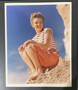 1945 Marilyn Monroe Original Photo Andre De Dienes Stamp Norma Jeane
