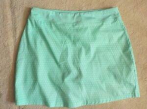 Womens Pebble Beach Dry Luxe Skort Medium Green NWOT
