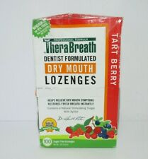 TheraBreath Dry Mouth Lozenges Tart Berry Flavor 100 Lozenges *READ DETAILS*